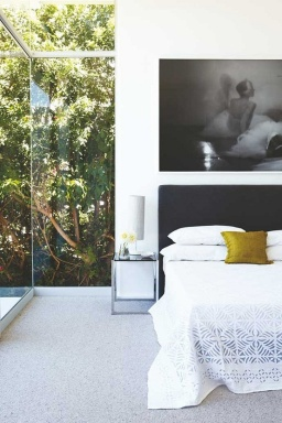 bedroom glass wall