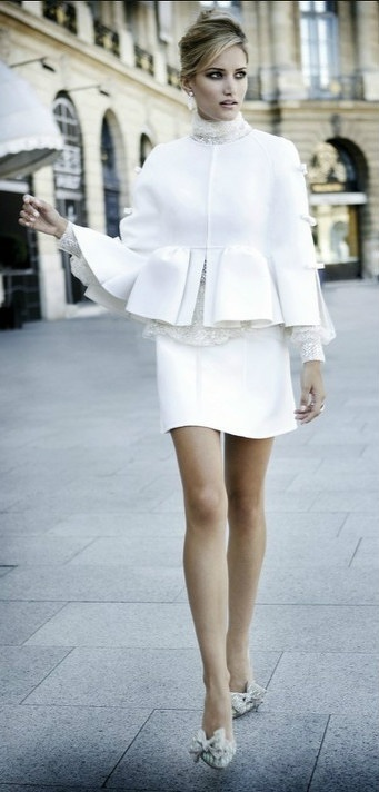 White Skirt Suit Jackie O