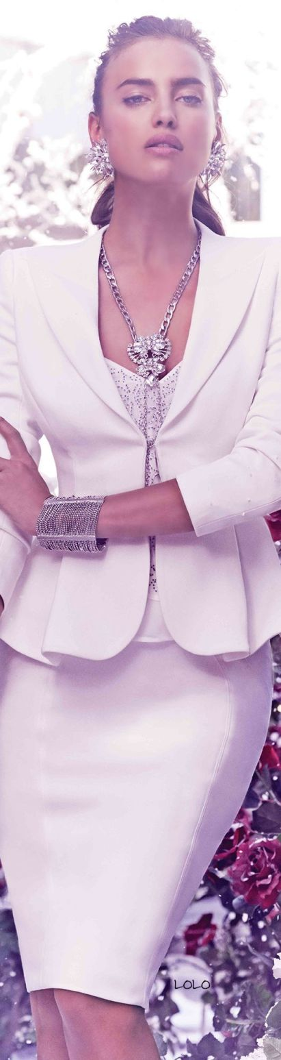 White Suit Skirt Jewels